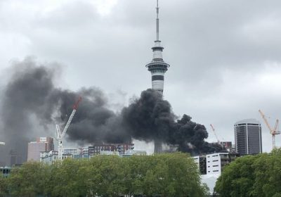 Breaking: Fire erupts at SkyCity convention centre site