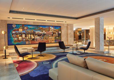 New-look lobby at Parmelia Hilton Perth